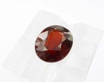 GARNET. Natural. Almandite. Ex-TRA Large.. Deep Red. Oval Native Cut.  1 pc. 8.62 cts. 11x13x7.5 mm (GA552)