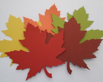 50 Large 4 Inch Fall Leaves die cuts