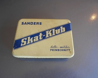 Very cool vintage Skat-Klub Tin