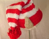 Elf Hat - Hand knit for Toddler
