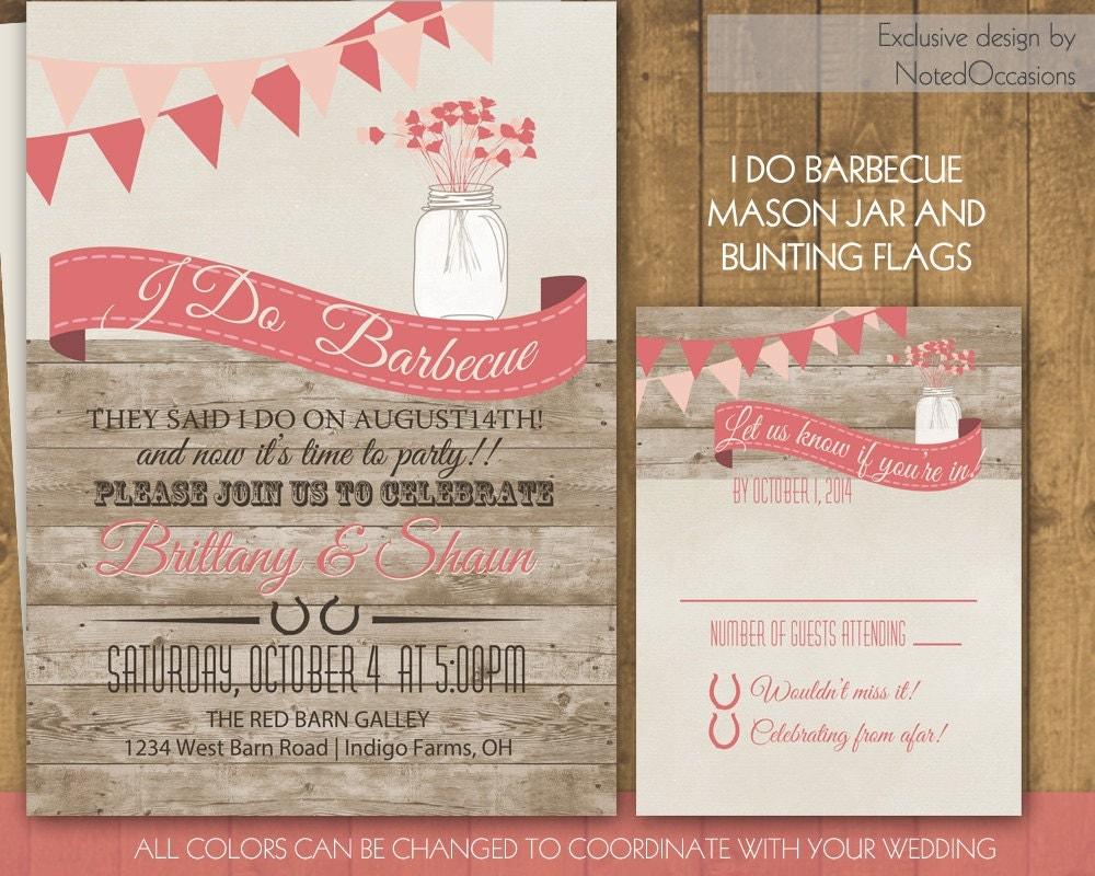 I Do Bbq Wedding Invitations 010 - I Do Bbq Wedding Invitations