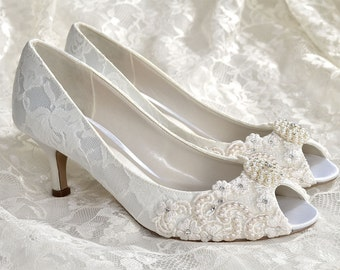 Woman's Low Heel Wedding Shoes Woman's Vintage