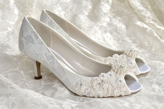 Pink Wedding Shoes Low Heel: Wedding Shoes Medium Heels Custom Colors Vintage Wedding
