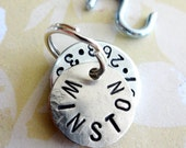 Personalized Small Dog Tag - Small Cat Tag - ID Tag - Hand Stamped Washer and Nickel Silver Disc with phone number and name