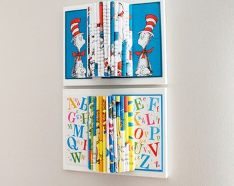 Dr. Seuss Room Decor, Wall Art, Kids Room, Book Sculpture