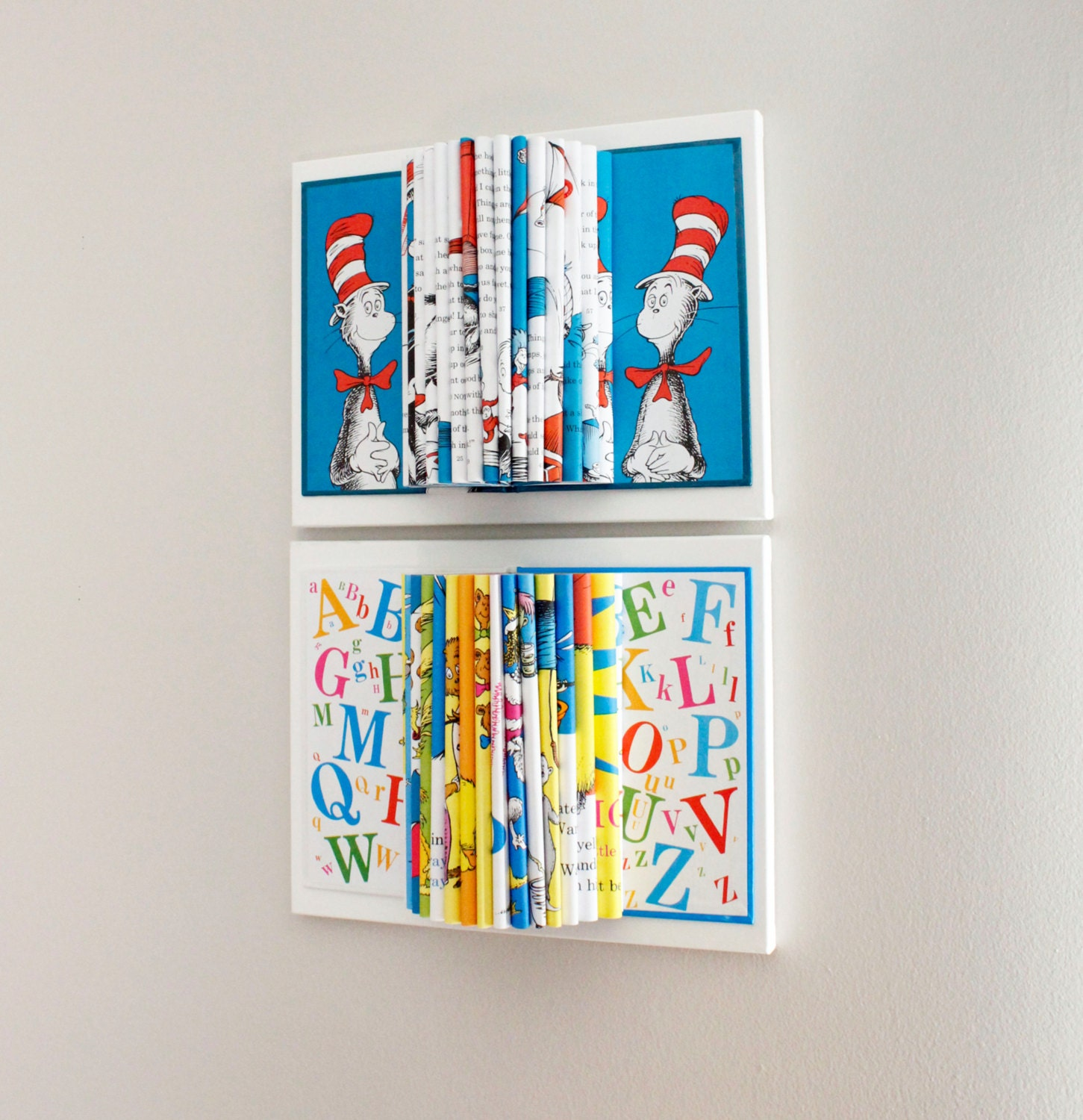 dr seuss room decor wall art kids room book sculpture