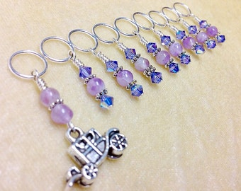 Knitting Stitch Markers, Stagecoach, Fairytale Carrage, Snag Free, Gift for Knitters, Pattern Markers