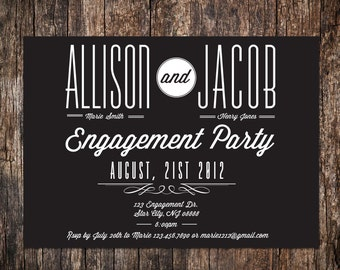 Engagement party Invitation - Wedding Announcement