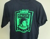 Vintage 24 Hour Church of Elvis T-Shirt Black Size L