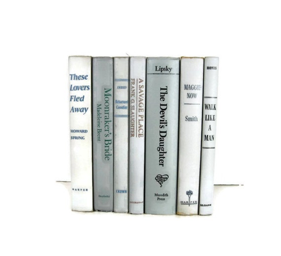 Shades of  Gray Taupe  Vintage Decorative Books