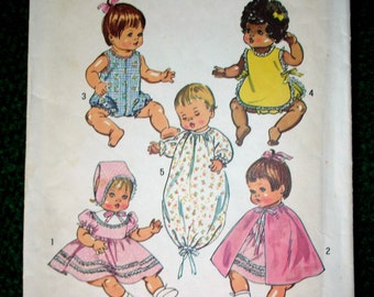 Baby Doll Dress Pattern 1972 Size 14  Vintage USA 5275