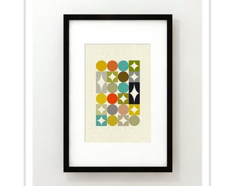 PALETTE no.1 - Giclee Print - Mid Century Modern Danish Modern Minimalist Cubist Modernist Abstract