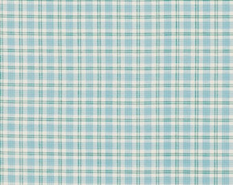 Summer Plaid in Pool, Verna Mosquera Fabric, Rosewater, PWVM107 Pool, One Yard