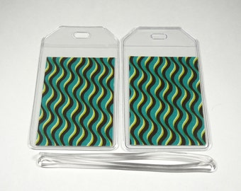 Luggage Tags Set of 2 Waves