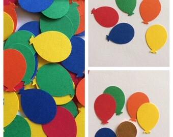 Balloon confetti 100 Primary Colors, Balloons, Party Confetti, Table Decoration, Scrapbook embellish, Party, Confetti, Shower decorations
