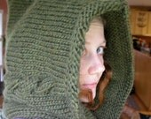 SALE!!! Large Cabled Forest Nymph Hood