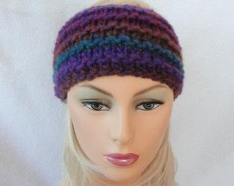 Knit Ear Warmer Pattern, Knit Headband pattern, Downhill Ear Warmer pattern for adults and teens