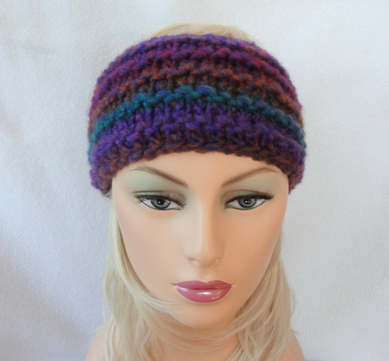 Knit Ear Warmer Pattern Knit Headband pattern Downhill Ear