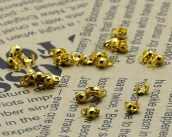 50 pcs of gold Tone bead tips for 2.0mm ball chain Connectors Clasps