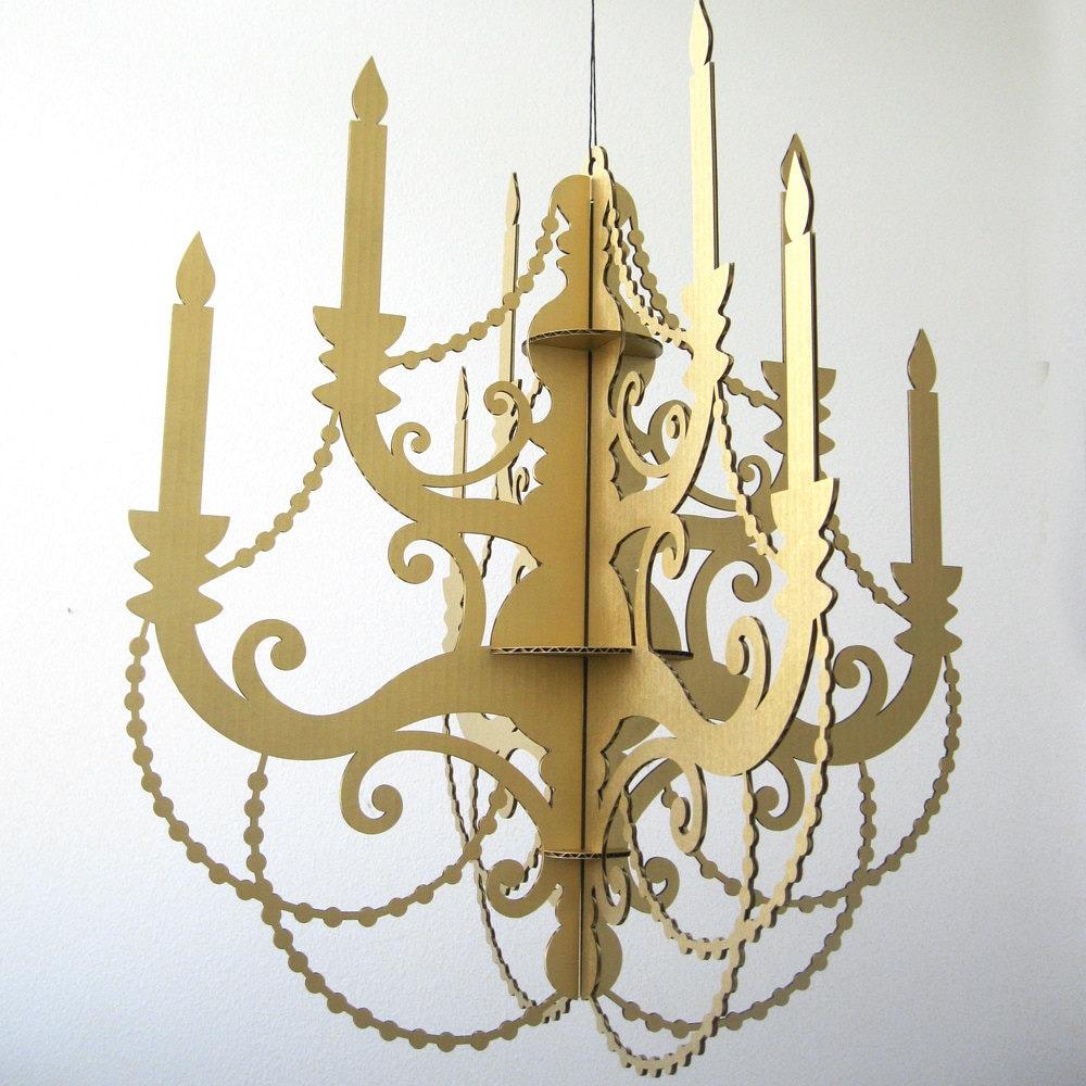 Metallic chandelier thejots gold cardboard chandelier metallic chandelier new lighting ideas arubaitofo Choice Image