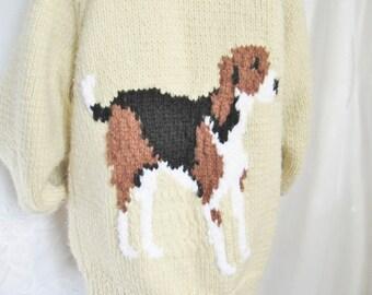Mens/ Womens Cardigan/ Hand Knit Sweater/ ViNTaGe Winter Cardigan