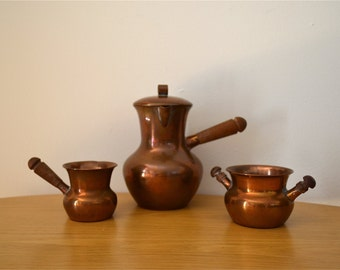 Arts and Crafts 3 Piece Denmark SPV Copper Serving Set