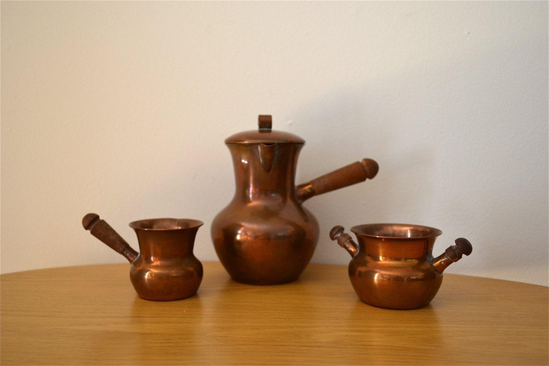 arts and crafts 3 piece denmark spv copper serving set. Black Bedroom Furniture Sets. Home Design Ideas
