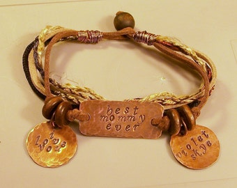 Mother's Copper Bracelet, Perfect for Mother's Day, Free Shipping