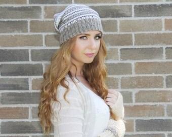 Women's Slouchy Hat , Crochet Women's Slouchy Hat, Fall Spring Slouchy Hat, Women's Fashion, Fall Accessory