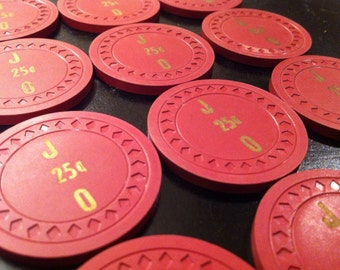 Vintage Casino Poker Chips One Dozen