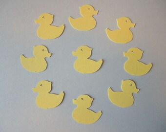 Duck Duckie Baby Shower Confetti, Birthday Party Decor, Color Options