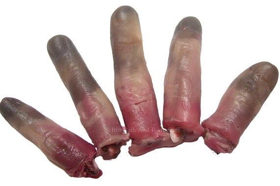 Gross Dead Zombie Fingers Soap Set Handcrafted Novelty Glycerin Usable Bath Art by JBABS