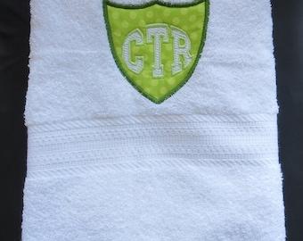 CTR White Towel - Green Applique