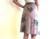 Garden Fantasy Skirt / Butterfly and Dragonfly floral skirt