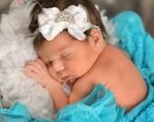 White baby Hedband,Baby Headbands, Baby tiara headband,newborn headband,Baby girl Headband,Baby Princess Tiara Headband, Crown headband.