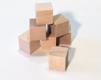 500 Wooden Blocks - 500 Wood Blocks 1/2 inch Cubes