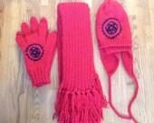 Reserved - Custom Black Butler hat, gloves, and scarf