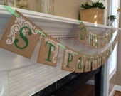 Spring Celebrations Happy St Patricks Day banner and garland with Shamrocks for your holiday party decor