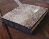 birch guest book -  custom birch bark wedding wood book - rustic personalized purple fall wedding winter wedding-made to order