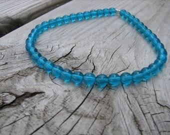 Turquoise Blue Beaded Ankle Bracelet