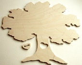 Custom 40 piece TREE Puzzle Wedding Guest Book Alternative by BELLA PUZZLES