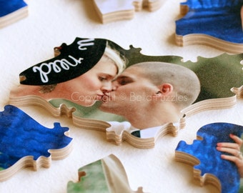 60 piece Wedding Guestbook Puzzle, guestbook alternative, wedding PHOTO puzzle guest book, Bella Puzzles™ modern wedding