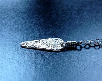 Tiny Spear Sterling Silver Necklace