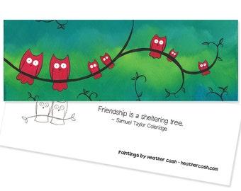 Owl Bookmark - Owl Friendship Party Favor