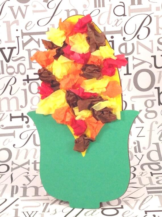 Papel de seda indio maíz kit de arte para niños para el otoño de ...