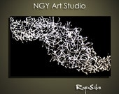 """NGY  24"""" x 36"""" Custom made R. Silva Original Modern Abstract Contemporary Fine Art Painting"""