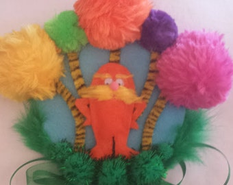 Dr Seuss inspired corsage-The Lorax