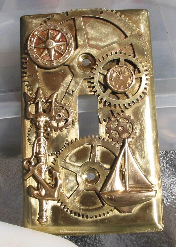 Steampunk Nautical Light Switch Plate