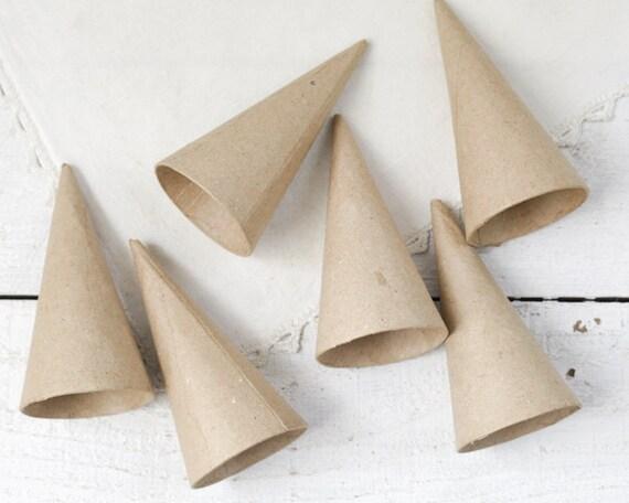 Paper mache cones mini 4 inch pressed cardboard craft for Cardboard cones for crafts