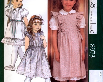 McCall's 8973 by Laura Ashley Girls' Jumper, Blouse and Petticoat or Skirt Sewing Pattern - Uncut - Size 6